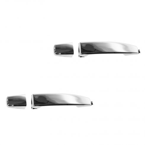07-11 Aveo Sedan; 12 Chevy Captiva Sport; 08-12 Vue Rear Outer Chrome Door Handle (w/Cap) PAIR