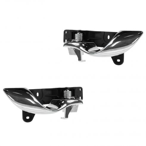 00-05 Cadillac Deville Chrome & Black Inner Door Handle PAIR