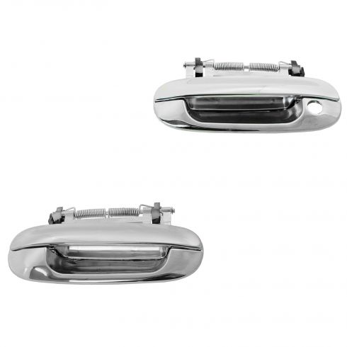 98-04 Cadillac Seville; 00-05 Deville; 06-11 DTS Front Outside All Chrome Door Handle PAIR