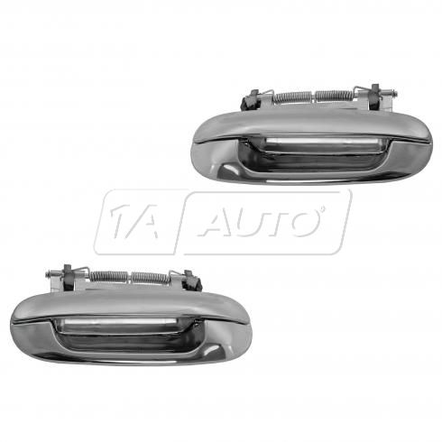 00-05 Cadillac Deville; 06-11 DTS Rear Outside All Chrome Door Handle PAIR