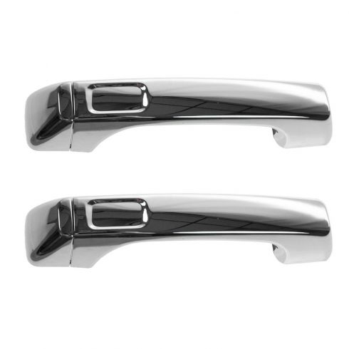 06-10 Hummer H3; 09-10 H3T All Chrome Outside Door Handle w/Cap PAIR