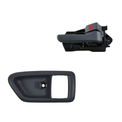 97-01 Toyota Camry Gray Inside Door Handle & Bezel Kit RF = RR