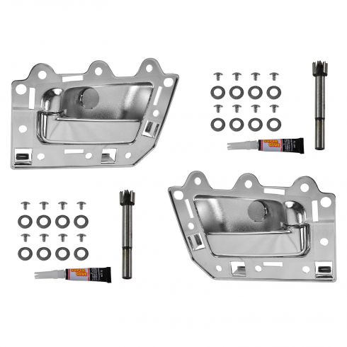 05-10 Jeep Grand Cherokee; 06-10 Commander Rear ALL CHROME Inside Door Handle Repair Kit PAIR