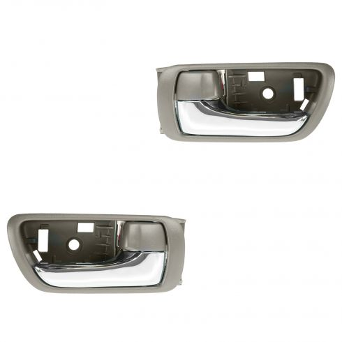 02-06 Toyota Camry Brown w/Chrome Lever Inside Door Handle PAIR