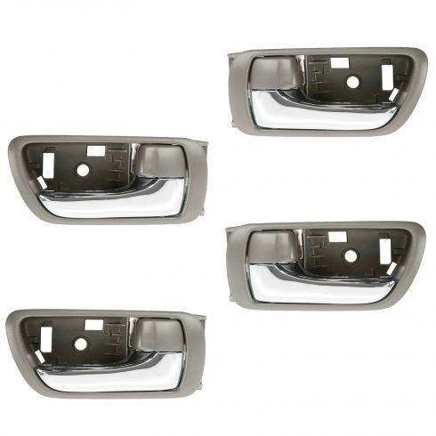 02-06 Toyota Camry Brown w/Chrome Lever Inside Door Handle SET of 4