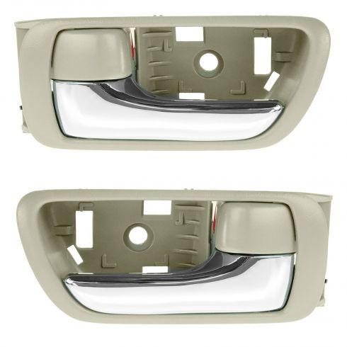 02-06 Toyota Camry Beige w/Chrome Lever Inside Door Handle PAIR