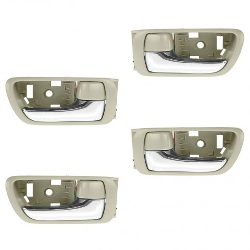 02-06 Toyota Camry Beige w/Chrome Lever Inside Door Handle SET of 4