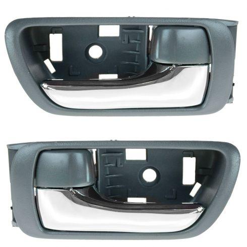 02-06 Toyota Camry Gray w/Chrome Lever Inside Door Handle PAIR