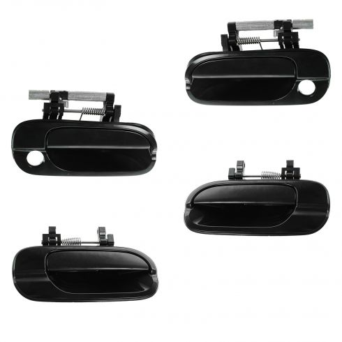00-06 Nissan Sentra Front & Rear PTM Outside Door Handle (Front w/Keyholes) (Set of 4)