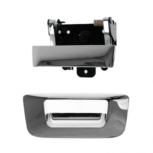07-12 Silverado, Sierra Chrome Tailgate Handle & Bezel Kit