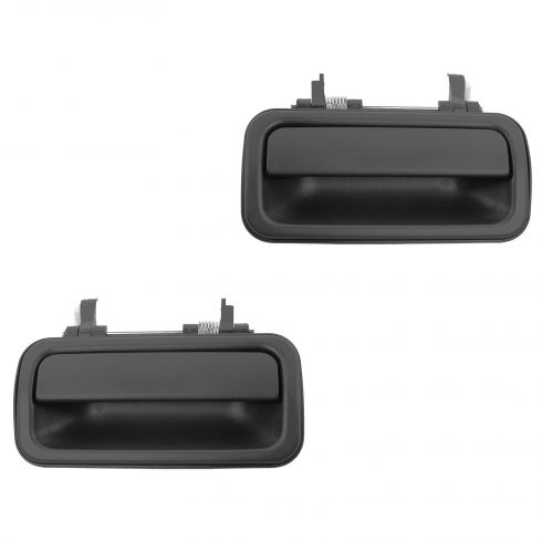 91-97 Isuzu Rodeo; 94-97 Honda Passport Rear Textured Black Outside Door Handle PAIR