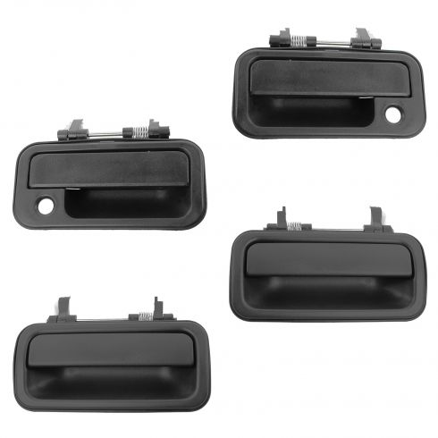 91-97 Isuzu Rodeo; 94-97 Honda Passport Front & Rear Textured Black Outside Door Handle (Set of 4)