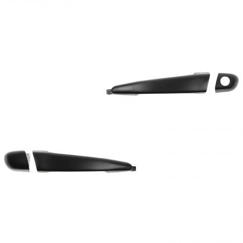 98-00 BMW 3 Series Cpe, Sedan, Wagon Textured Black Door Handle (LH w/Keyhole, RH w/o Keyhole) PAIR