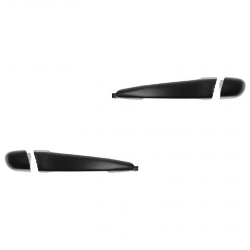 98-00 BMW 3 Series Sedan, Wagon Rear Textured Black Door Handle (w/Cover w/o Keyhole) PAIR