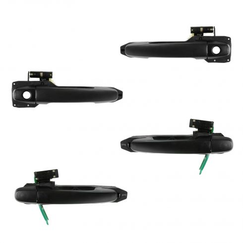 02-06 Toyota Camry; 03-08 Corolla Textured Black Door Handle w/Frame & Cover SET of 4