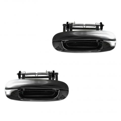 98-04 Cadillac Seville Rear Outside ALL CHROME Door Handle PAIR