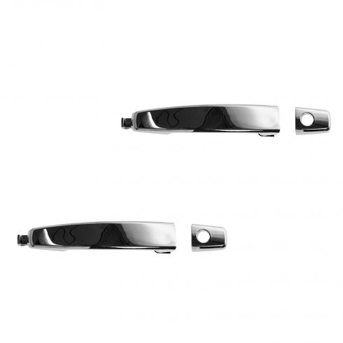 07-11 Aveo Sedan; 12 Chevy Captiva Sport; 08-12 Vue Frnt Outer Chrm Dr Handles (w/Cap w/Keyhle) PAIR
