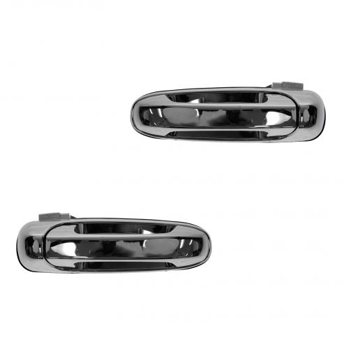 02-08 Dodge Ram 1500; 02-09 2500 3500; 05-11 Dakota 06-09 Raider Rear Door Outer Chrome Handle PAIR