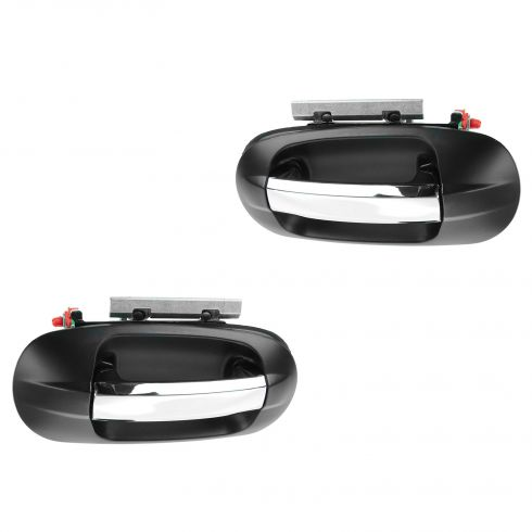 07-13 Ford Expedition, Lincoln Navigator Rear Chrome & PTM Outside Door Handle PAIR