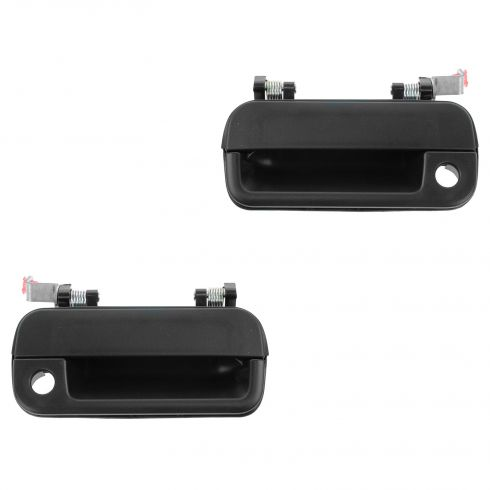 90-94 Hyundai Excel, Mitsubishi Precis Front Textured Black Outside Door Handle (w/Keyhole) PAIR