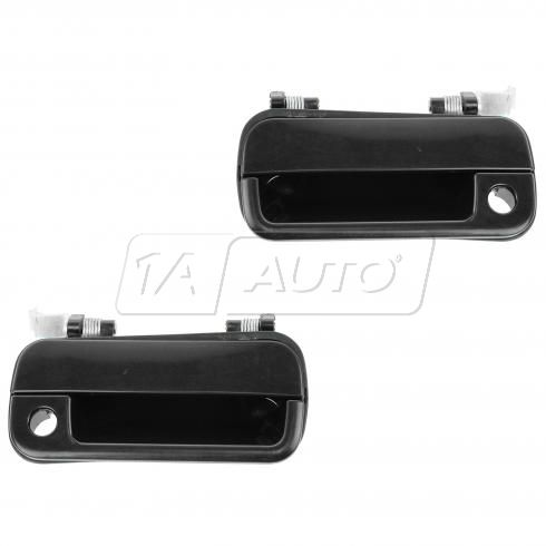 90-94 Hyundai Excel, Mitsubishi Precis Front PTM Outside Door Handle (w/Keyhole) PAIR