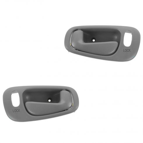 98-02 Toyota Corolla, Chevy Prizm (w/Manual Windows w/Pwr Locks) Frt Lt Gray Inside Door Handle PAIR