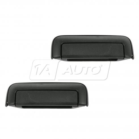 97-04 Mitsubishi Montero Sport Rear Textured Black Outside Door Handle PAIR