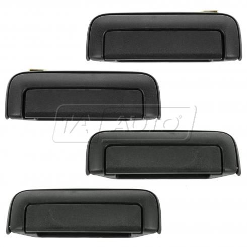 97-04 Mitsubishi Montero Sport Front & Rear Textured Black Outside Door Handle Kit (Set of 4)
