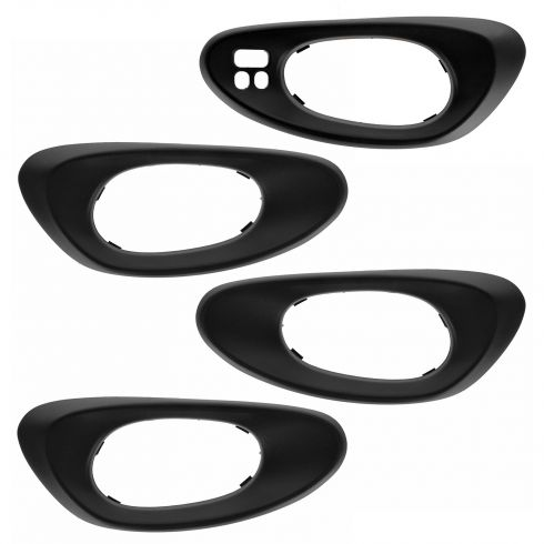 02-09 Trailblazer; 02-06 EXT (w/ Conv Pkg) Frt & Rr Txt Black Inside Door Handle Bezel (Set of 4)