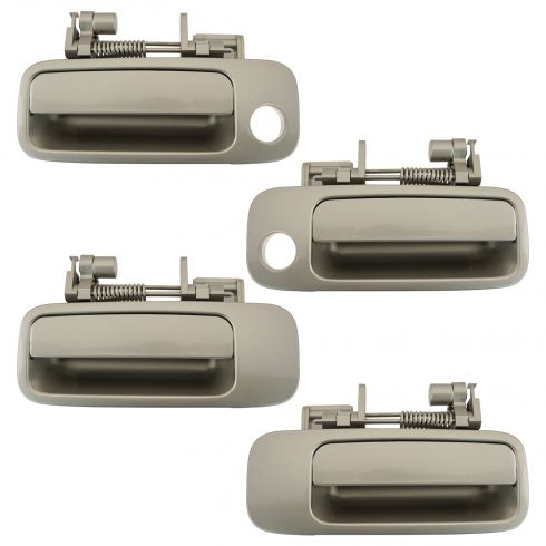 97-01 Toyota Camry, Lexus ES300 Front & Rear Beige (4M9) Exterior Door Handle Set of 4