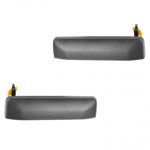97-03 Infiniti QX4; 96-04 Nissan Pathfinder Front Textured Black Outside Door Handle PAIR