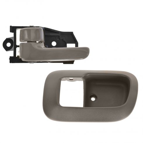 98-03 Toyota Sienna Front Inside Brown Door Handle & Bezel LH