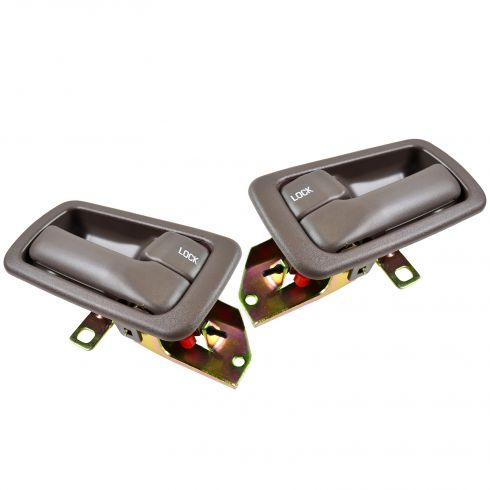 92-96 Toyota Camry Inside Door Handle & Bezel Brown (4 Piece)
