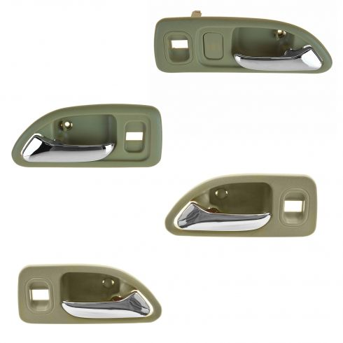 94-97 Accord 4 Door (w/Power Locks) Frt & Rr (Beige w/Chrome Lever) Inside Door Handle Kit(Set of 4)