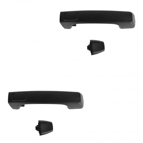 06-10 Hummer H3; 09-10 H3T Textured Black Exterior Door Handle w/Cap PAIR