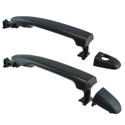 04-10 Toyota Sienna; 05-13 Tacoma Front Textured Black Outer Door Handle Pair