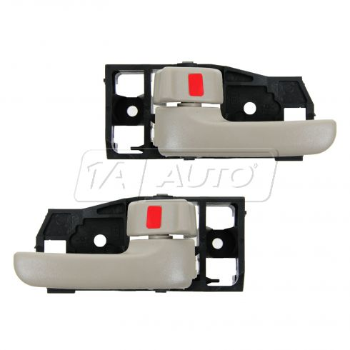 01-07 Toyota Highlander; 06-07 Highlander Hybrid Inner Ivory Door Handle PAIR