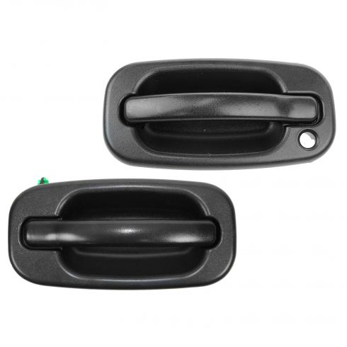 99-07 GM Full Size PU, SUV (w/o RH Keyhole) Front Outer Textured Black Door Handle PAIR