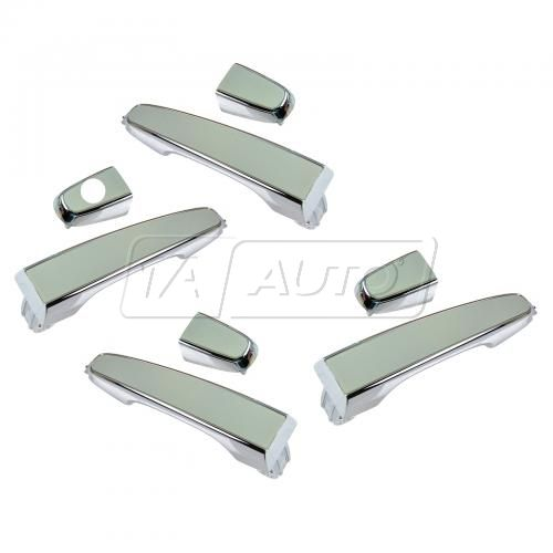 08-09 Pontiac G8; 11-13 Chevy Caprice Front & Rear Outside Chrome Plated Door Handle Set of 4