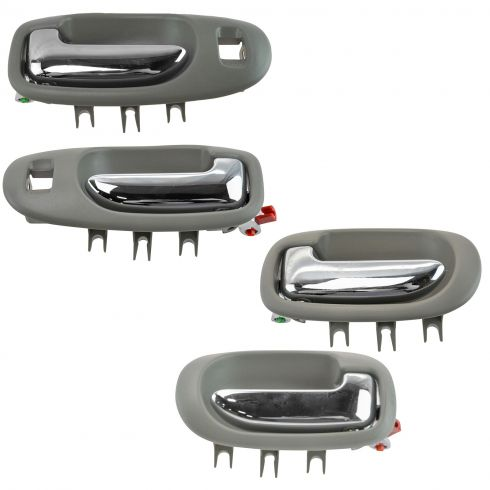 01-06 Sebring, Stratus Sedan Light Gray & Chrome Front & Rear Inside Door Handle Set of 4