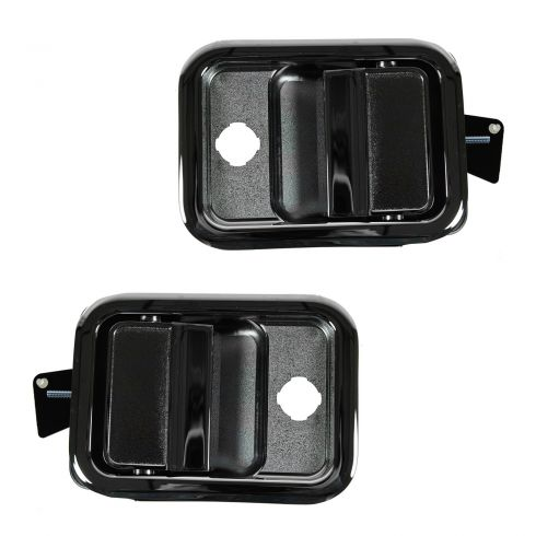 00-11 Freightliner Columbia, Cascadia Front Outer Chrome Door Handle PAIR