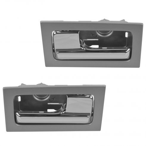 09-14 Ford F150 w/Power Locks Inside Platinum w/Chrome Pull Door Handle Pair (Ford)
