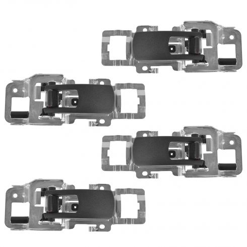 06-09 Pontiac Torrent; 05-09 Chevy Equinox Front & Rear Inside Black Door Handle Kit (Set of 4) (GM)
