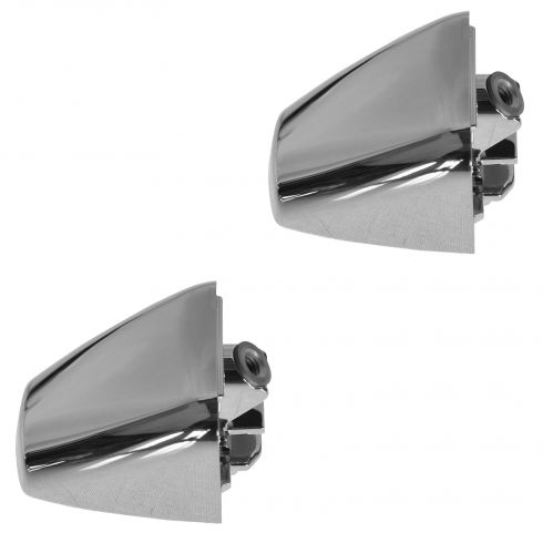06-10 Hum H3; 09-10 H3T Front Door, Rear Door, or Lift Gate Chrome Door Handle End Cap PAIR (GM)