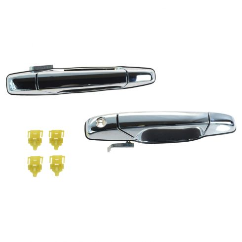 07-14 GM FS SUV; 07-14 New Bdy Silverado, Sierra Reg, Ext Cab Front Chrome Outer Door Handle PR (GM)
