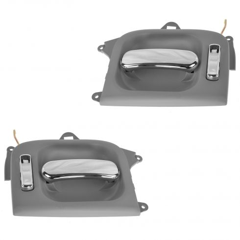 02-05 Kia Sedona Sliding Inner Gray Door Handle Assy Pair (Kia)