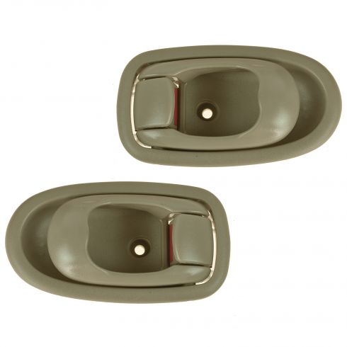 01-04 Kia Spectra Sedan Front Inner Beige Door Handle Assy Pair (Kia)