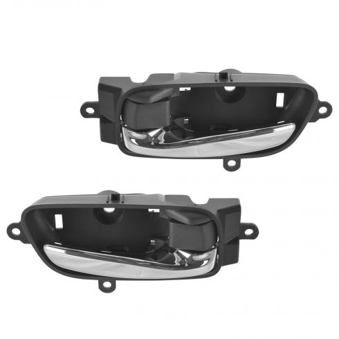 13-15 Nissan Altima, Pathfinder Front or Rear Door Chrome & Black Inside Door Handle Pair(Nissan)