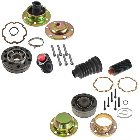 99-04 Jeep Grand Cherokee (w/ AWD); 02-05 Liberty Front Driveshaft Front & Rear CV Joint Rebuild Kit