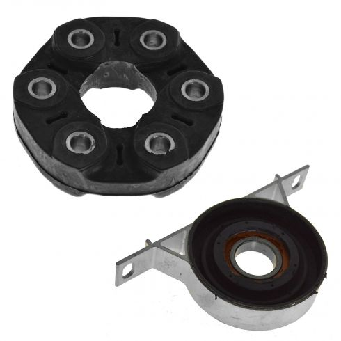 99-05 BMW 3 Series; 03-08 Z4 Drive Shaft Center Support Bearing & Coupler PAIR